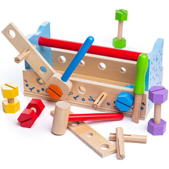 Picture of My Workbench - Wooden Construction Toys - Pretend Play - BigJigs