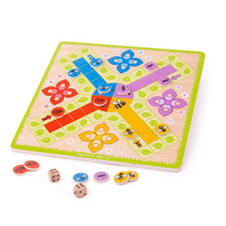 Picture of Ludo - Wooden Board Games - Wooden Games - BigJigs