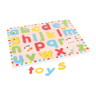 Picture of Inset Puzzle - Lowercase Alphabet - Wooden Puzzles - BigJigs