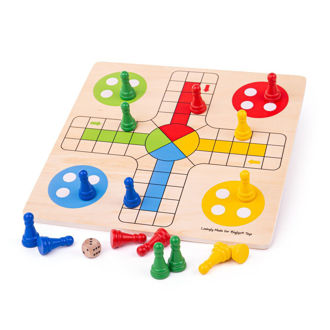 Picture of Traditional Ludo - Wooden Board Games - BigJigs