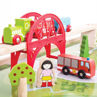 Picture of Services Train Set and Table - Wooden Train Set - BigJigs