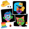 Picture of Colorforms Silly Faces Game 0- Family Games - Play Monster